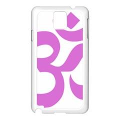 Hindu Om Symbol (bright Purple) Samsung Galaxy Note 3 N9005 Case (white) by abbeyz71