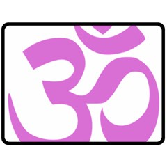 Hindu Om Symbol (bright Purple) Double Sided Fleece Blanket (large)  by abbeyz71