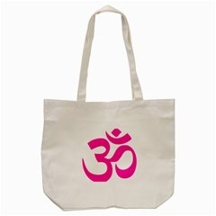 Hindu Om Symbol (pink) Tote Bag (cream) by abbeyz71