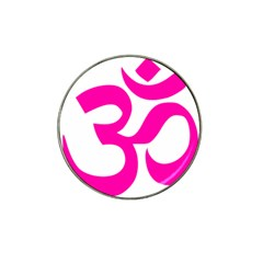 Hindu Om Symbol (pink) Hat Clip Ball Marker (4 Pack) by abbeyz71