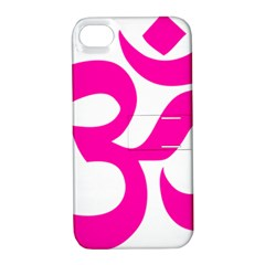 Hindu Om Symbol (pink) Apple Iphone 4/4s Hardshell Case With Stand by abbeyz71