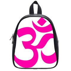 Hindu Om Symbol (pink) School Bags (small)  by abbeyz71