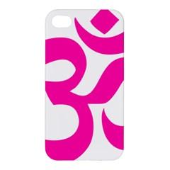 Hindu Om Symbol (pink) Apple Iphone 4/4s Hardshell Case by abbeyz71