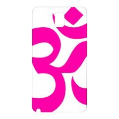 Hindu Om Symbol (pink) Samsung Galaxy Note 3 N9005 Hardshell Back Case by abbeyz71