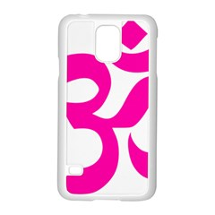 Hindu Om Symbol (pink) Samsung Galaxy S5 Case (white) by abbeyz71