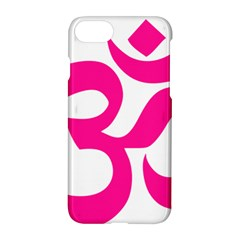 Hindu Om Symbol (deep Pink) Apple Iphone 7 Hardshell Case by abbeyz71