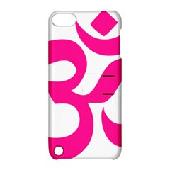 Hindu Om Symbol (deep Pink) Apple Ipod Touch 5 Hardshell Case With Stand by abbeyz71