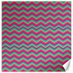 Retro Pattern Zig Zag Canvas 16  X 16   by Nexatart
