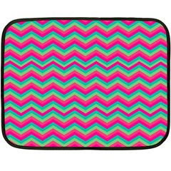 Retro Pattern Zig Zag Fleece Blanket (mini) by Nexatart