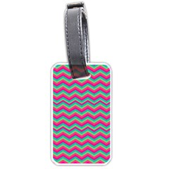 Retro Pattern Zig Zag Luggage Tags (two Sides)