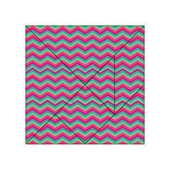 Retro Pattern Zig Zag Acrylic Tangram Puzzle (4  X 4 ) by Nexatart