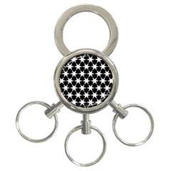 Star Egypt Pattern 3 Ring Key Chains by Nexatart