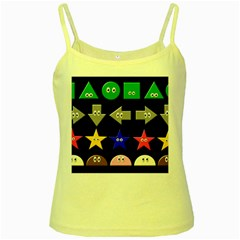 Cute Symbol Yellow Spaghetti Tank