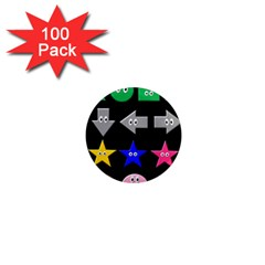 Cute Symbol 1  Mini Magnets (100 Pack)