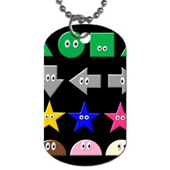 Cute Symbol Dog Tag (two Sides) by Nexatart