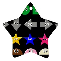 Cute Symbol Star Ornament (two Sides)