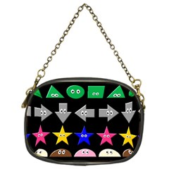 Cute Symbol Chain Purses (one Side)  by Nexatart