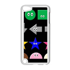 Cute Symbol Apple Ipod Touch 5 Case (white) by Nexatart