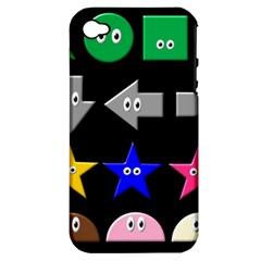 Cute Symbol Apple Iphone 4/4s Hardshell Case (pc+silicone) by Nexatart