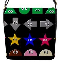 Cute Symbol Flap Messenger Bag (s) by Nexatart