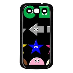 Cute Symbol Samsung Galaxy S3 Back Case (black)