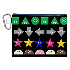 Cute Symbol Canvas Cosmetic Bag (xxl) by Nexatart