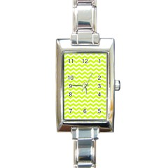 Chevron Background Patterns Rectangle Italian Charm Watch
