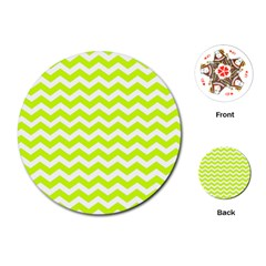 Chevron Background Patterns Playing Cards (round)