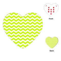 Chevron Background Patterns Playing Cards (heart)  by Nexatart