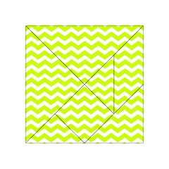Chevron Background Patterns Acrylic Tangram Puzzle (4  X 4 )