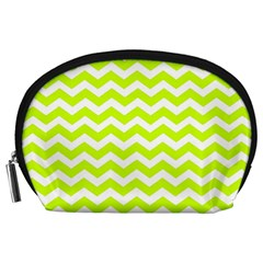 Chevron Background Patterns Accessory Pouches (large)  by Nexatart