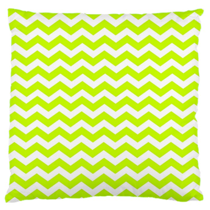 Chevron Background Patterns Large Flano Cushion Case (Two Sides)