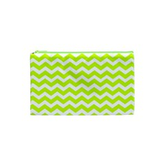 Chevron Background Patterns Cosmetic Bag (xs) by Nexatart