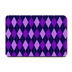 Static Argyle Pattern Blue Purple Small Doormat