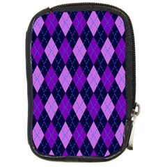 Static Argyle Pattern Blue Purple Compact Camera Cases by Nexatart