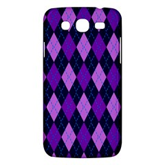 Static Argyle Pattern Blue Purple Samsung Galaxy Mega 5 8 I9152 Hardshell Case