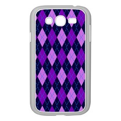 Static Argyle Pattern Blue Purple Samsung Galaxy Grand Duos I9082 Case (white) by Nexatart