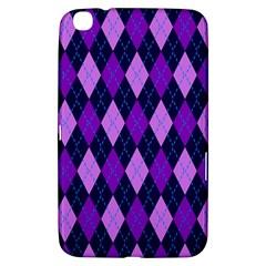 Static Argyle Pattern Blue Purple Samsung Galaxy Tab 3 (8 ) T3100 Hardshell Case