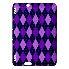 Static Argyle Pattern Blue Purple Kindle Fire Hdx Hardshell Case by Nexatart