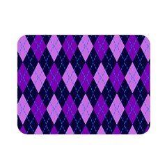 Static Argyle Pattern Blue Purple Double Sided Flano Blanket (mini)