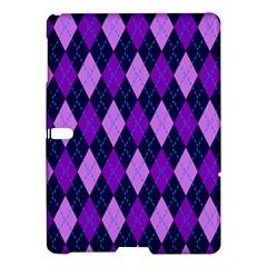 Static Argyle Pattern Blue Purple Samsung Galaxy Tab S (10 5 ) Hardshell Case  by Nexatart
