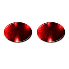 Box Lights Red Plaid Cufflinks (oval) by Mariart