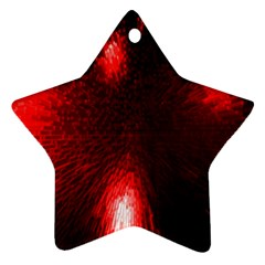 Box Lights Red Plaid Star Ornament (two Sides) by Mariart