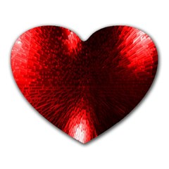Box Lights Red Plaid Heart Mousepads by Mariart