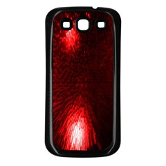 Box Lights Red Plaid Samsung Galaxy S3 Back Case (black) by Mariart