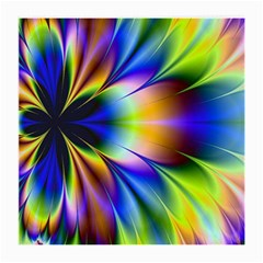 Bright Flower Fractal Star Floral Rainbow Medium Glasses Cloth