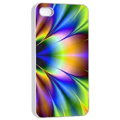 Bright Flower Fractal Star Floral Rainbow Apple Iphone 4/4s Seamless Case (white) by Mariart