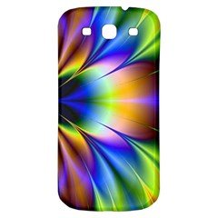 Bright Flower Fractal Star Floral Rainbow Samsung Galaxy S3 S Iii Classic Hardshell Back Case by Mariart