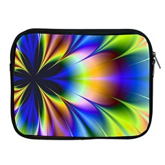 Bright Flower Fractal Star Floral Rainbow Apple Ipad 2/3/4 Zipper Cases by Mariart