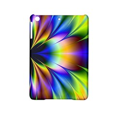 Bright Flower Fractal Star Floral Rainbow Ipad Mini 2 Hardshell Cases by Mariart